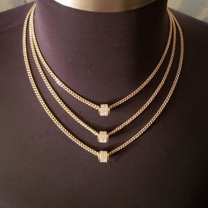 Jessica Simpson triple layered necklace.